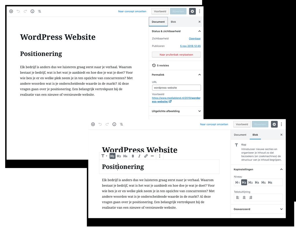 MediaBlend WordPress webcontent