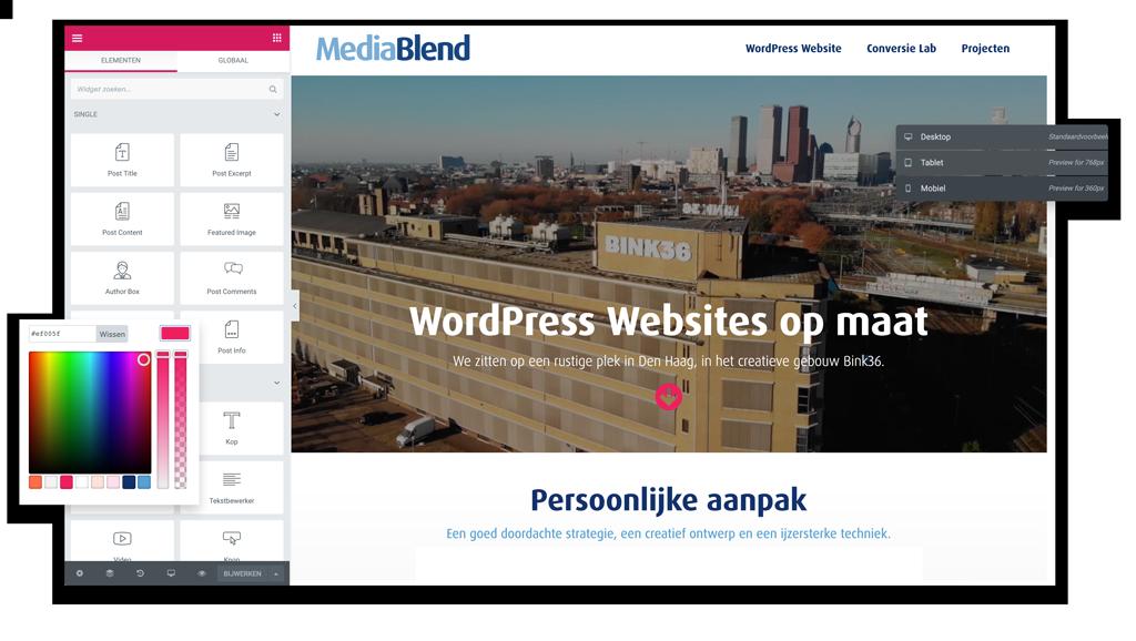 MediaBlend WordPress webdesign Elementor